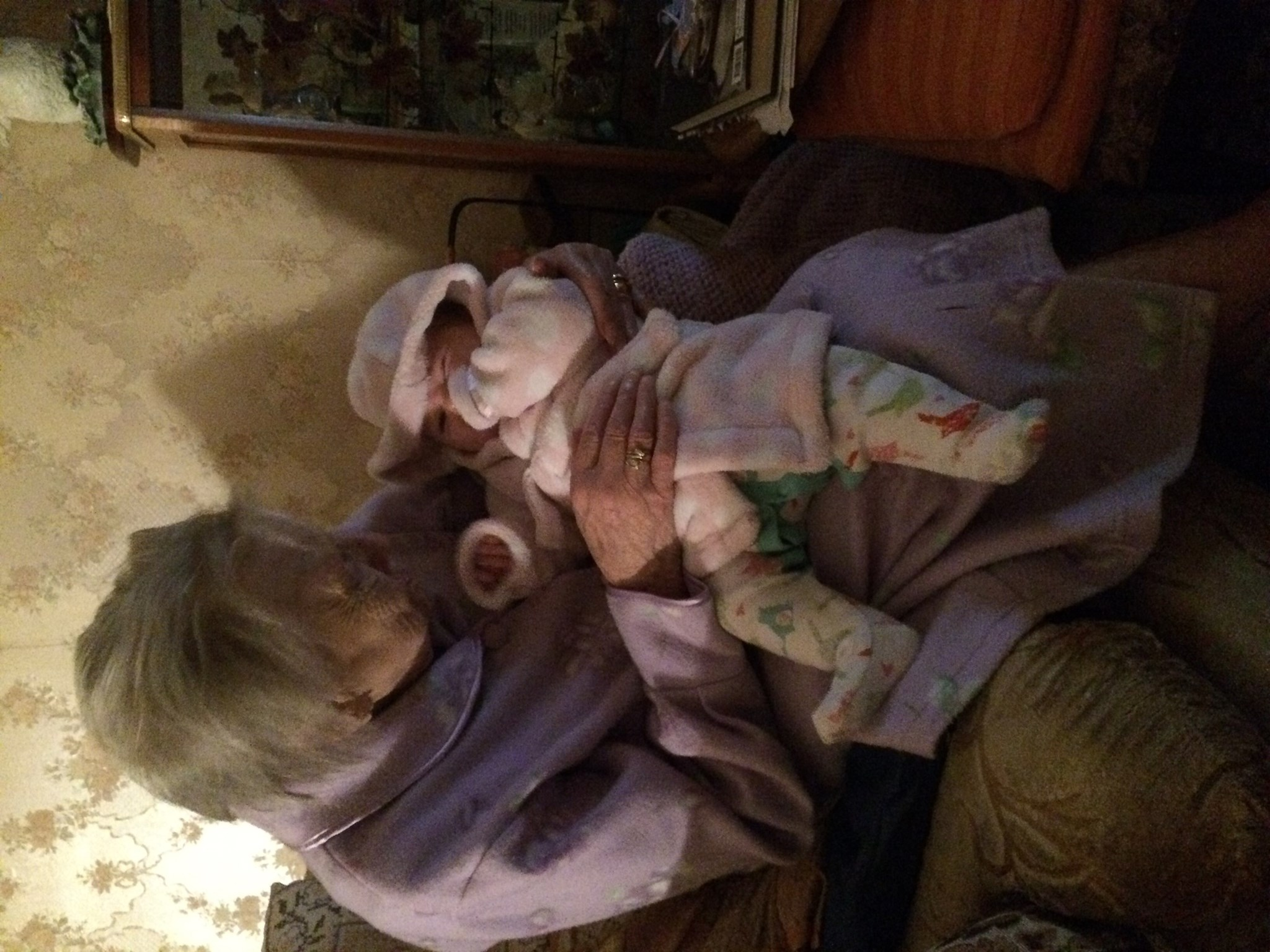 Joyce with baby Lily