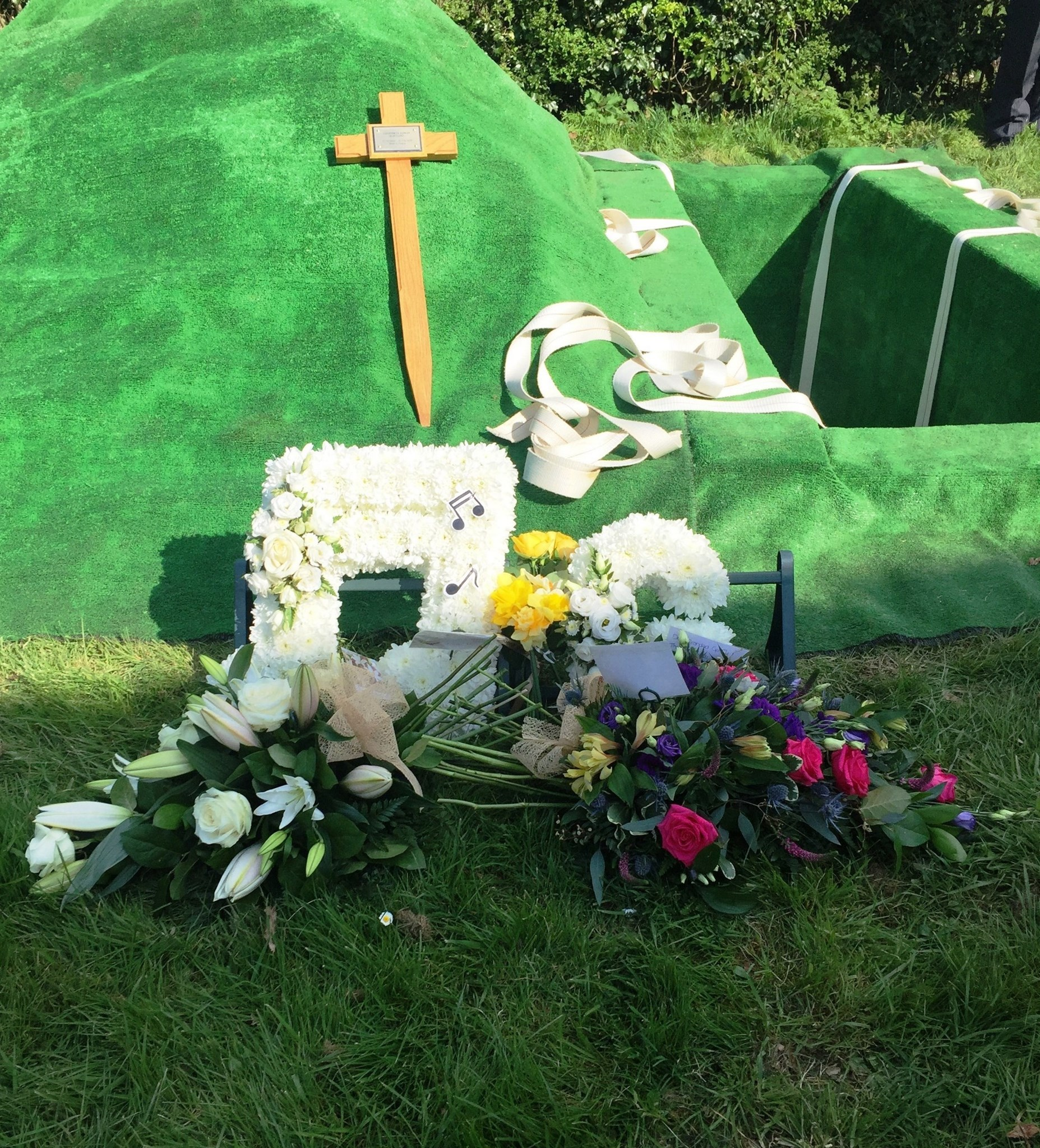 Floral tributes for Geoffrey Slingsby