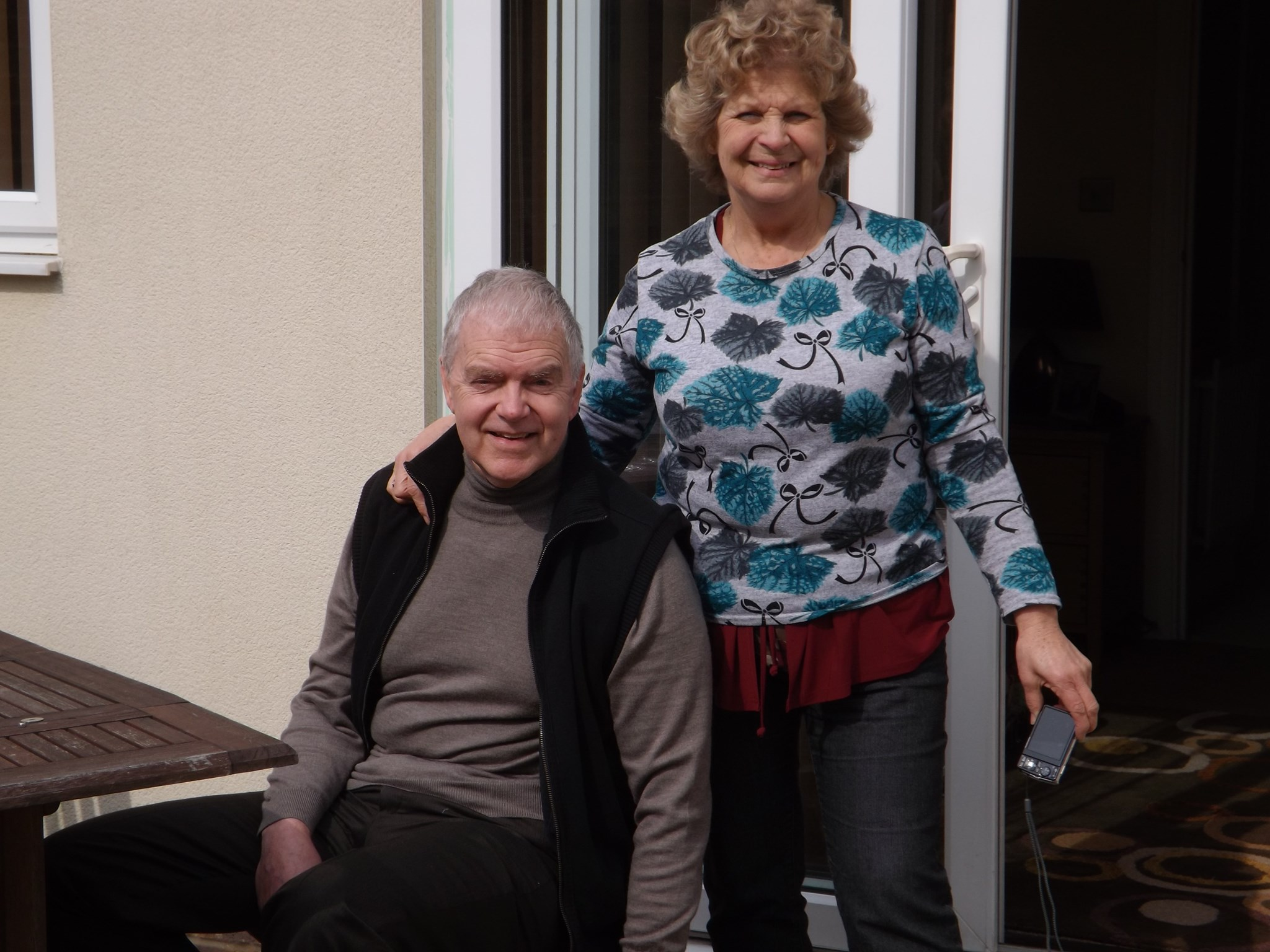 Mum and Dad at our house in Dorset x