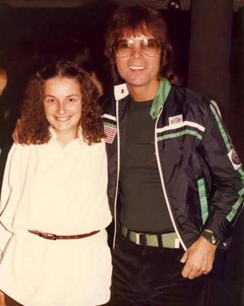 Gill with Cliff Richard - c1975