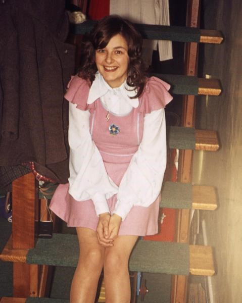 Gill on stairs - c1972