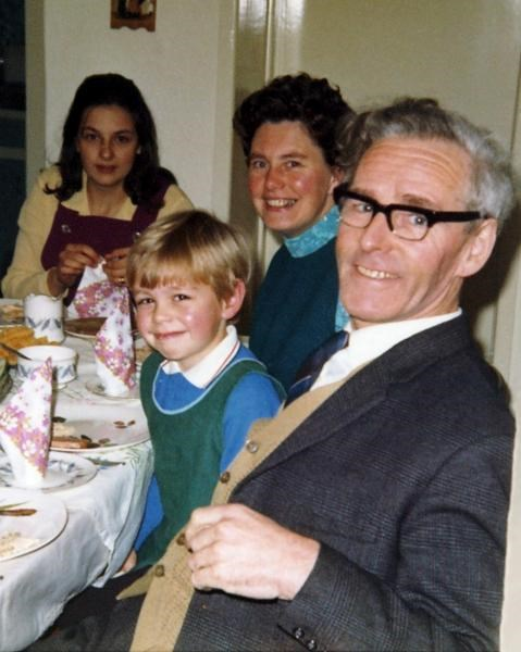 Gill with Andrew's Mum and Dad & Tim - Nov. 1971