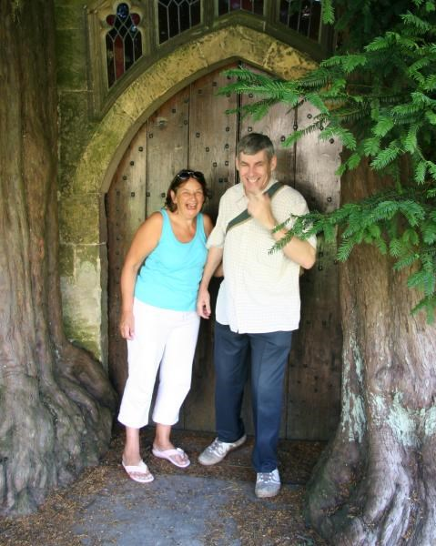 Gill & Andrew in Stow on the Wold - Aug. 2007