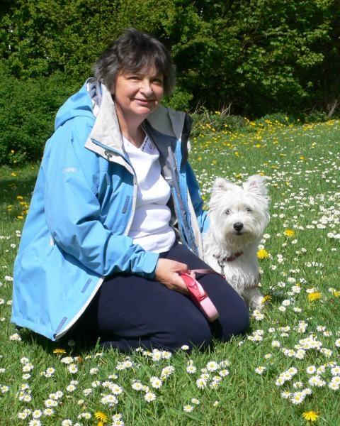 Gill with Rosie - May 2010