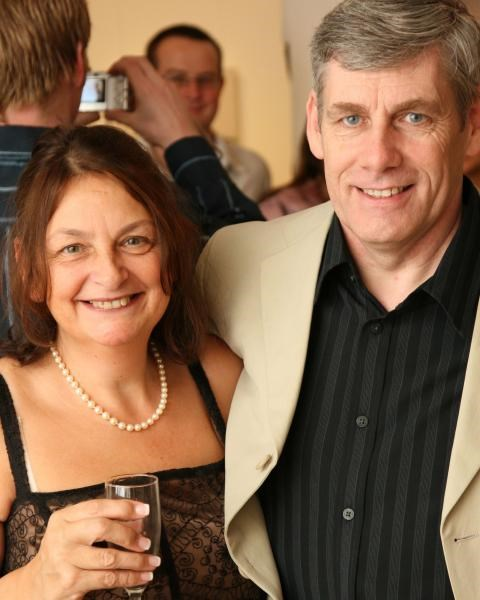 Gill and Andrew at Sarah's wedding - Dec. 2007