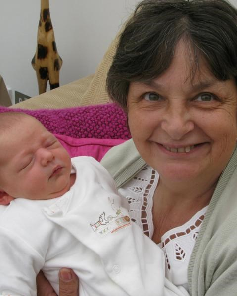 Gill with Amelia - 9th May 2010