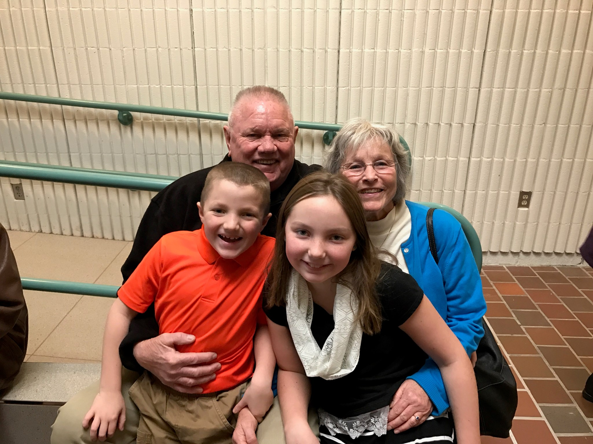 Papa and Grammie with Corinne and Donovan