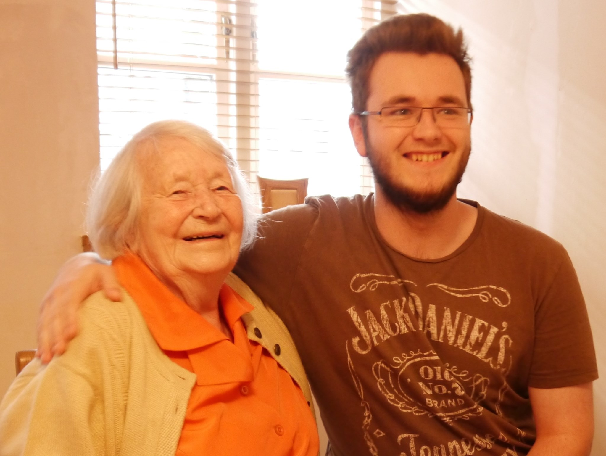 Jamie and Granny Dickinson, September 2013