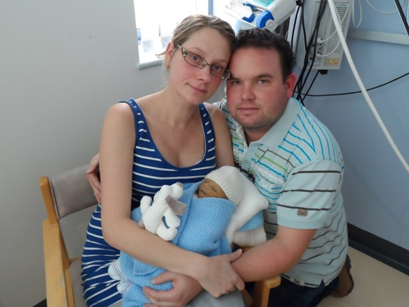 the 3 of us at hospital