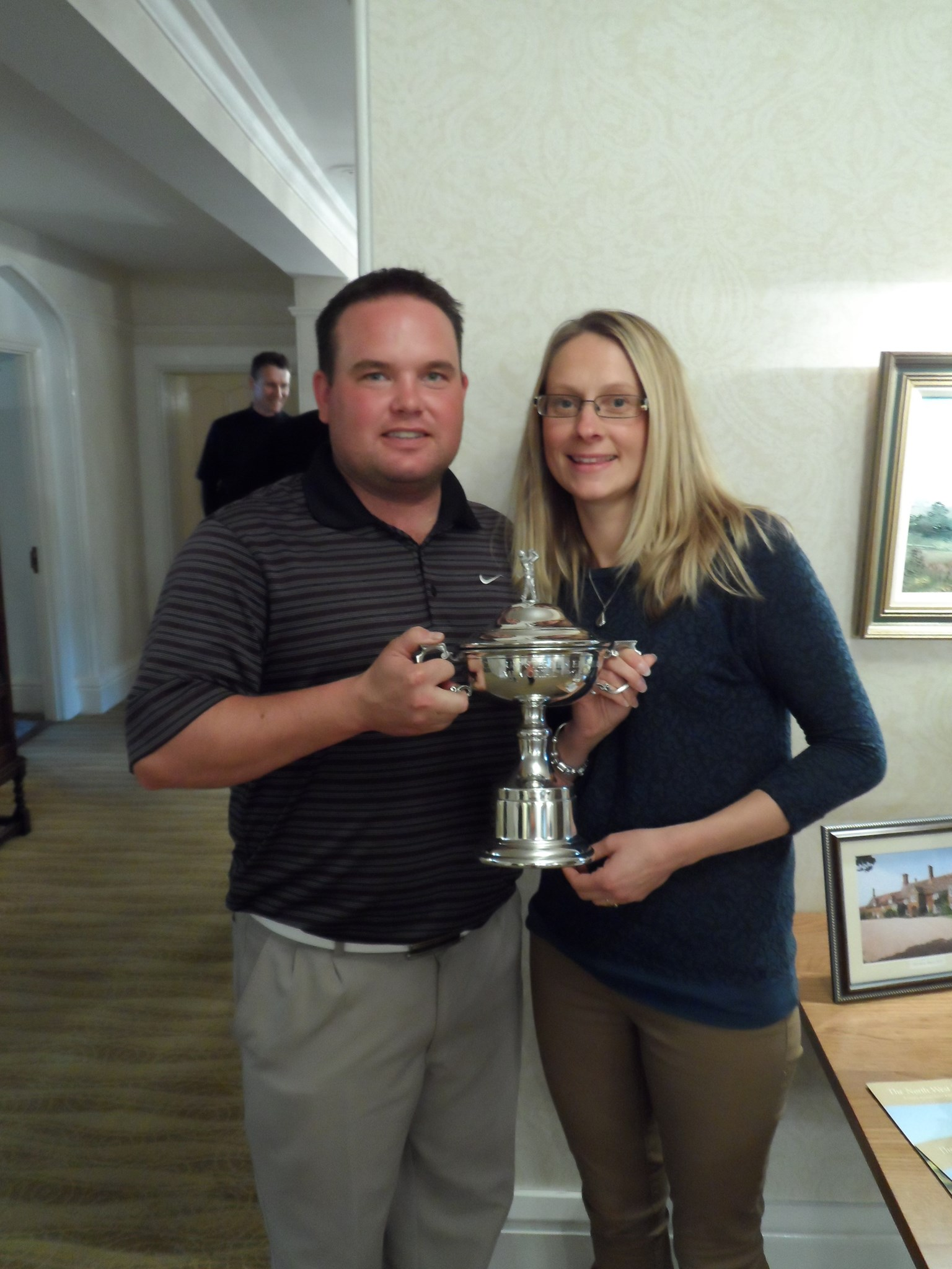 me & Odette with the trophy