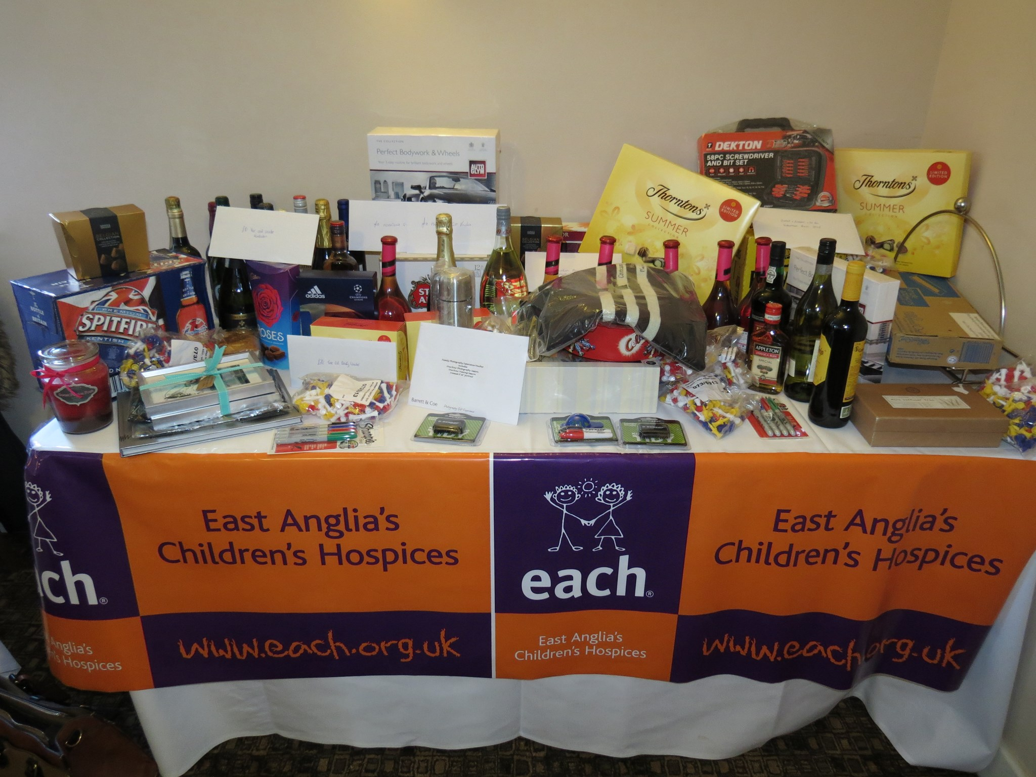 raffle table 2016 thanks to all who donated