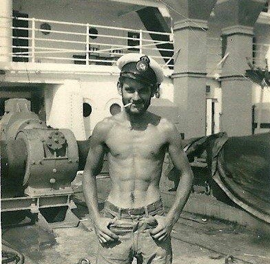 1948 on the Ship Merchant Knight - Looking lithesome