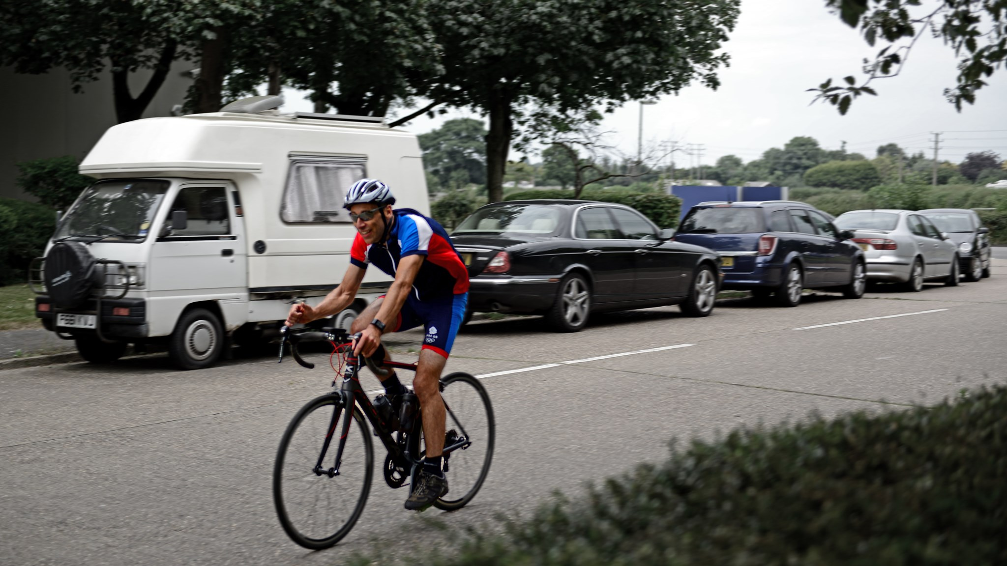 Southco Worcester to Farnham Bike Ride 2016.  One of the most driven riders of the day...