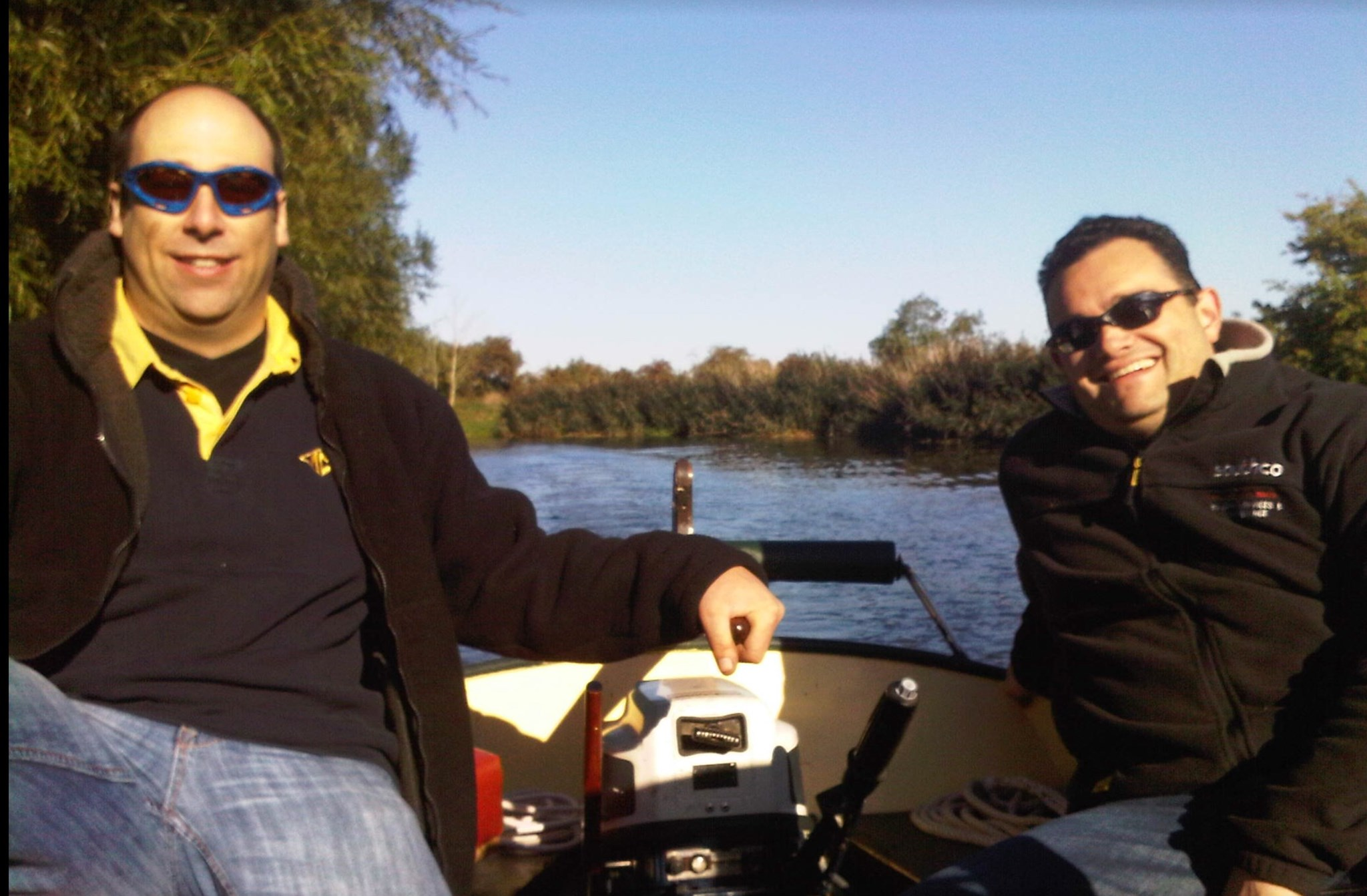 A summer afternoon on the River Avon, We got in trouble for speeding!