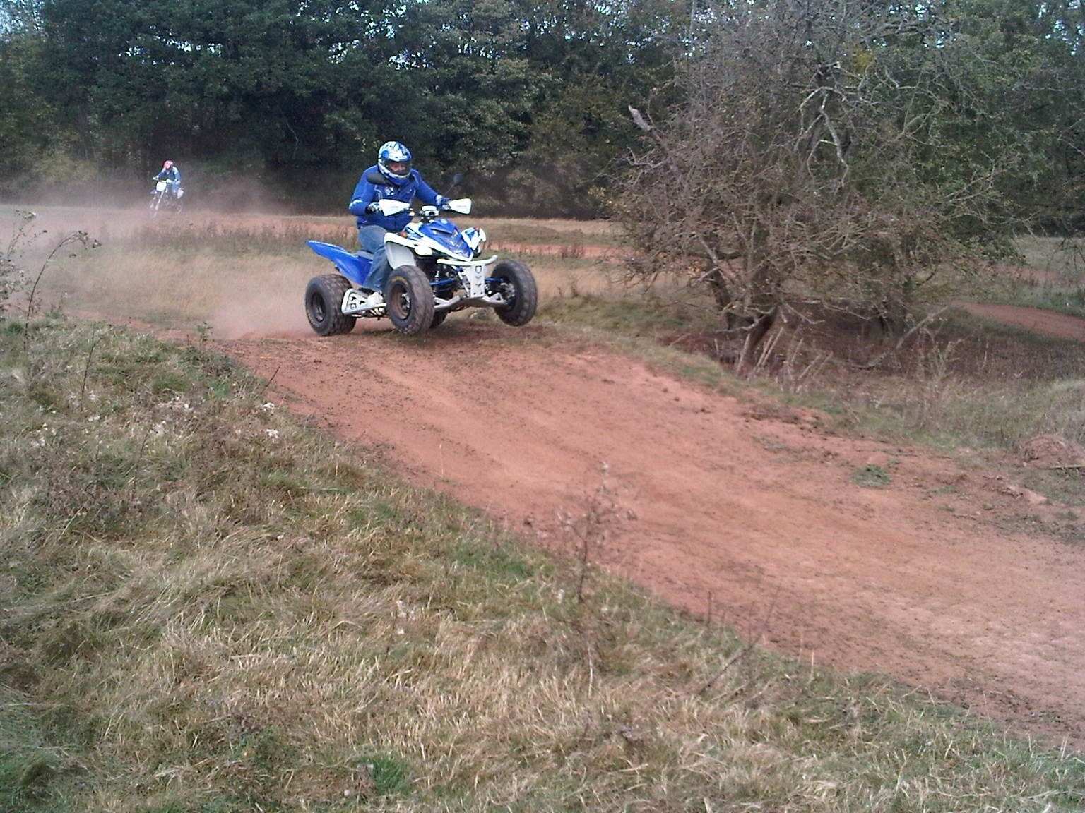 Anthony jumping on his quad