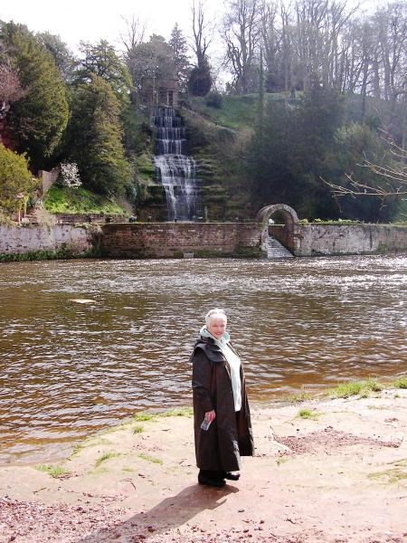 By the waterfall at Wetheral - her favourite place