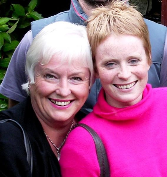Gill and Helen in 2005