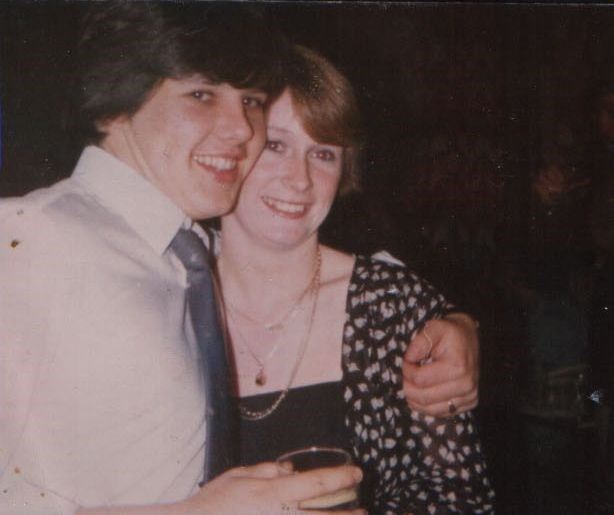 At our engagement party 1980. Happy times.