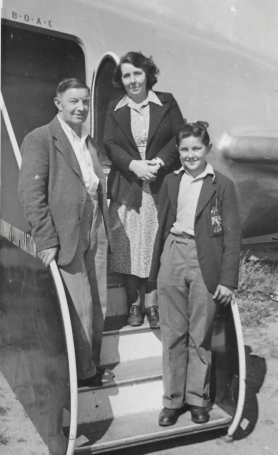 Peter with his Mum & Dad
