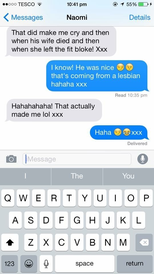 I'll never forget this text message...you spat your drink everywhere ??????I love and miss you xxxxx