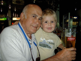 Dad and Harry at Airport 2005