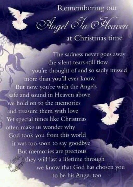 We think about you often and send these loving thoughts at Christmas time.