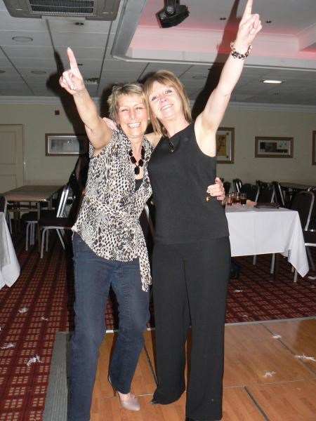 Alison and good friend Julie at Hyde Cricket Club Ladies Night