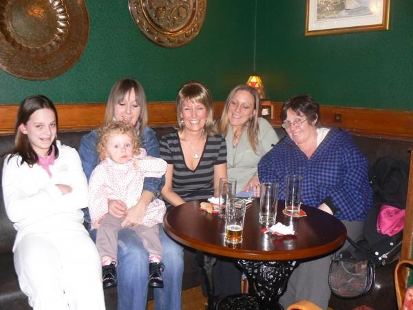 Alison with her neices and family