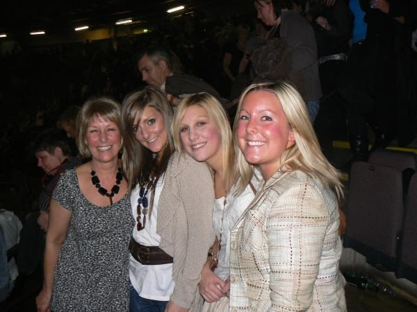 Alison & daughters at Take That concert