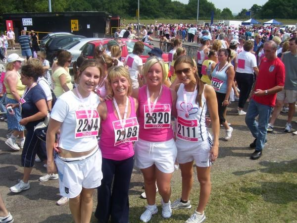 Alison & daughters - Race For Life 2006