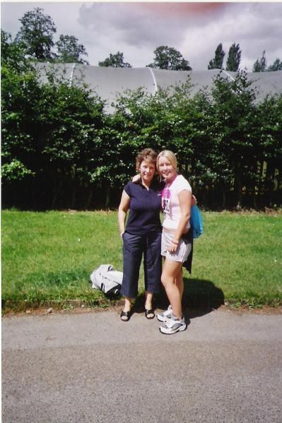 Alison with Nat after completing Race For Life 2005