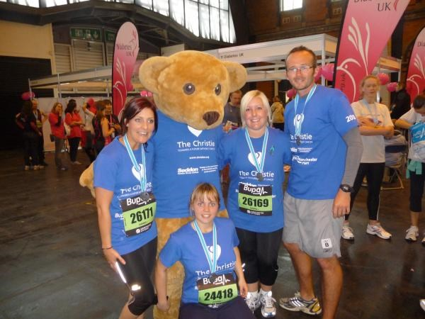 Nat, Kim, Rob & Leesa after the Manchester 10k 2010