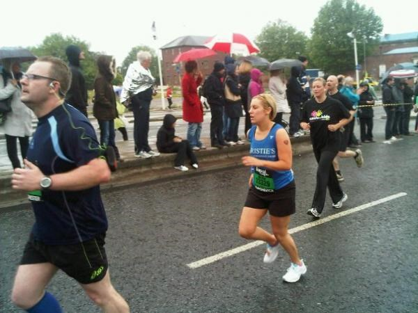Mel running the Manchester 10k 2011