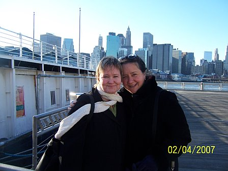 Sandy with Debbie Kovacs at Bargemusic in NYC 2007