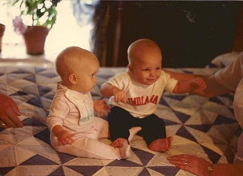 Josh and Chase 1st meeting Aug 1988 at Howdo and Grandma's