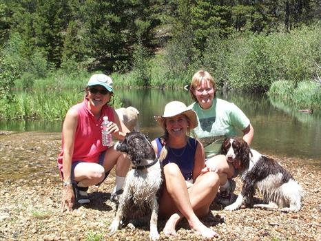 Sandy & Lindy with Roz, Lisa & Gracy at the Pond in Baltimore