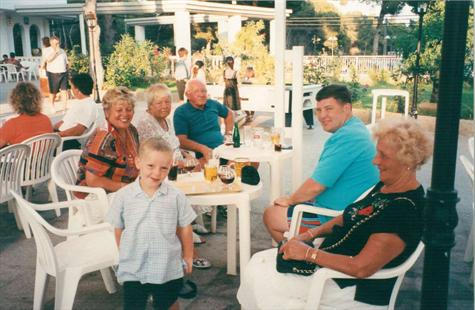 On holiday in Es Cana with Aunty Pat & Uncle Jim