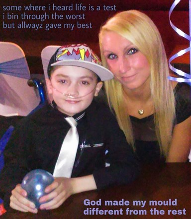 The Bravest strongest most inspirational little boy I know x