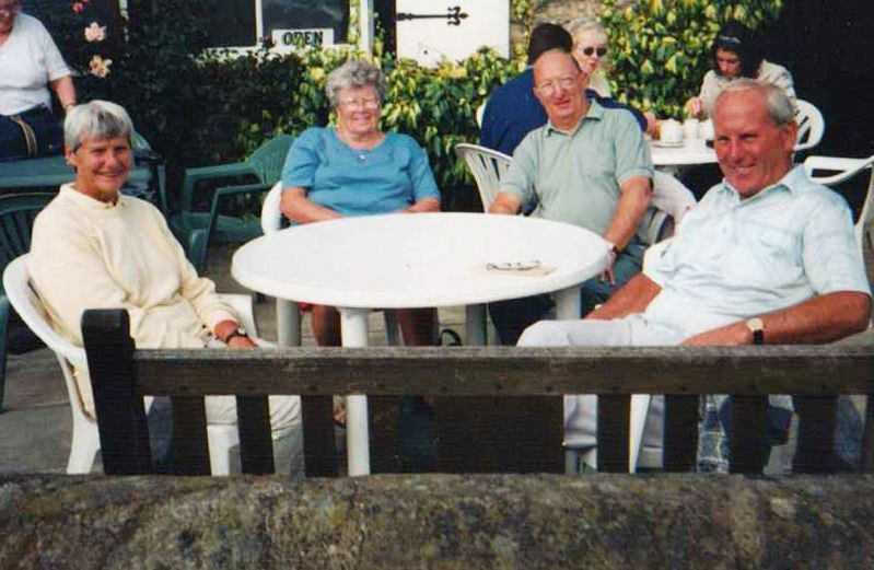 With Doff, younger brother Ray and his wife Margaret
