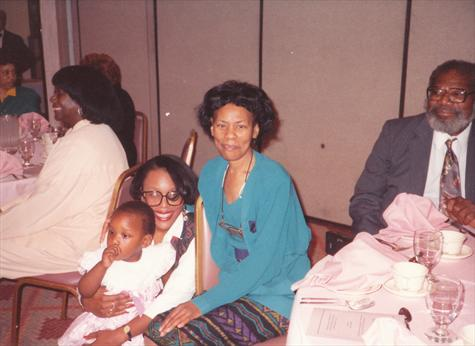 Mom, Donna and Amber at Moms retirement party 1991