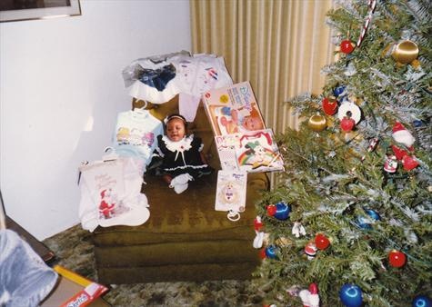 Ambers First Christmas December 1989
