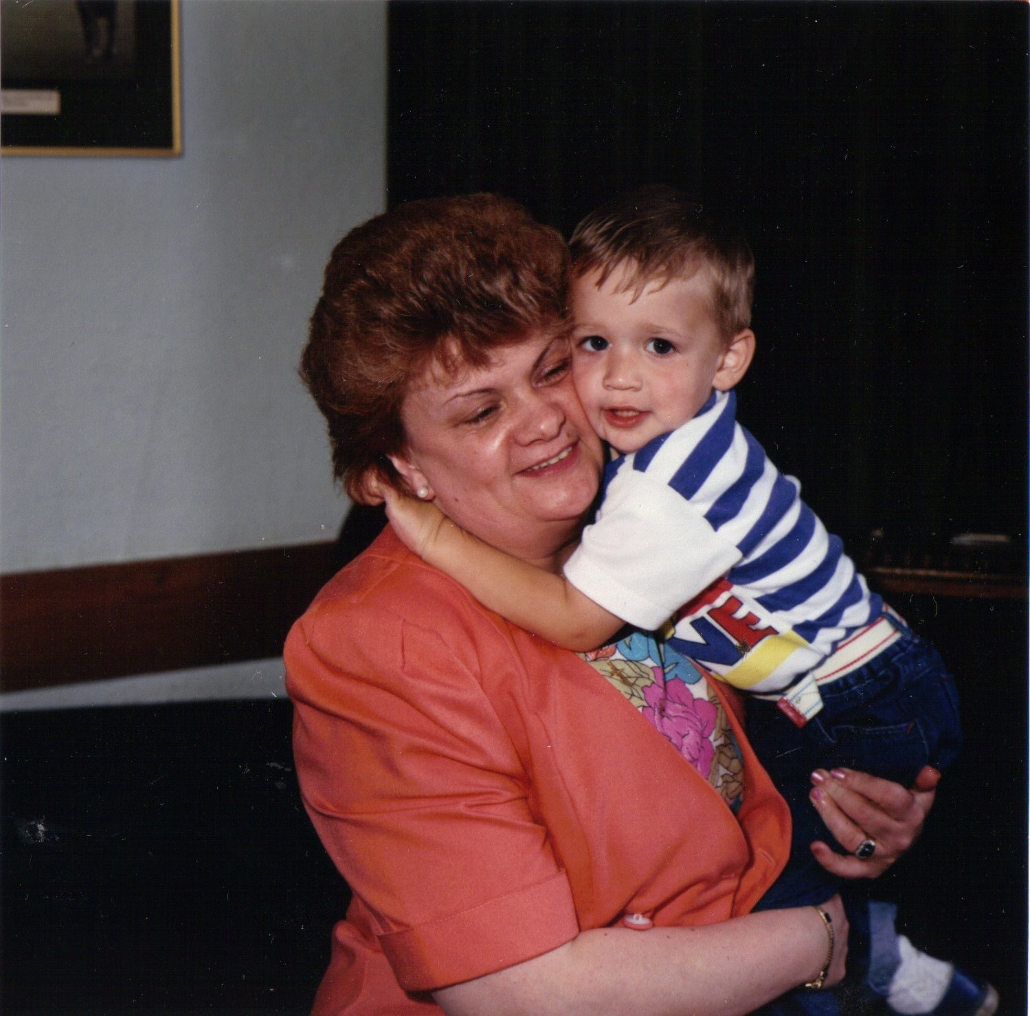 ANDY WITH HIS BELOVED GRAN