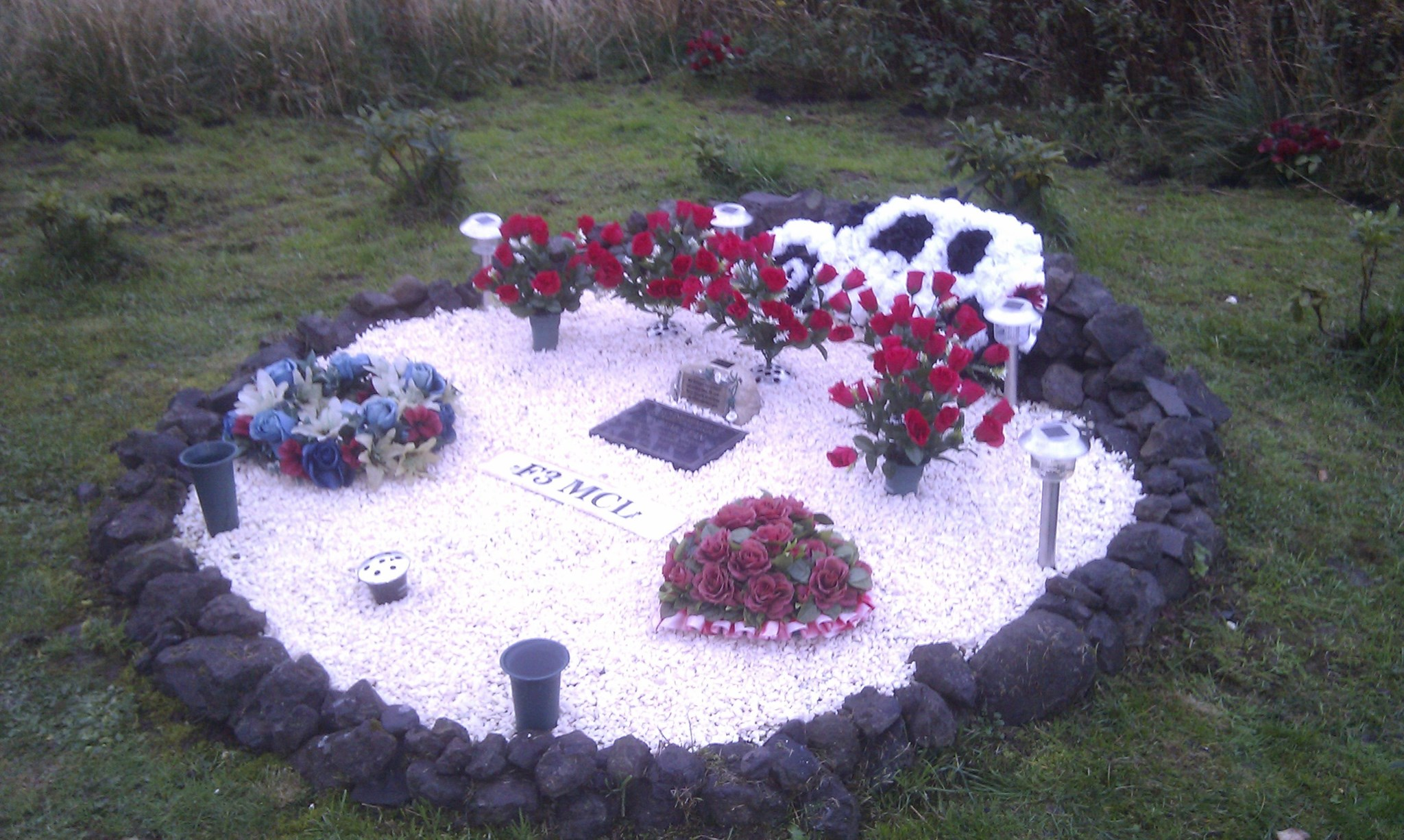 ANDYS MEMORIAL  at the place where he died
