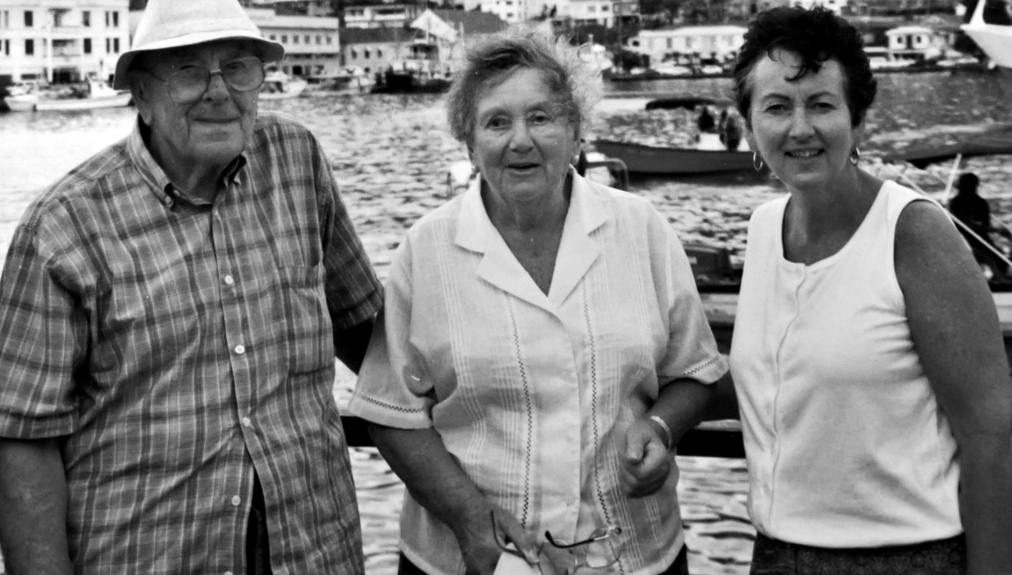 Jenny and her parents on an Amazon trip (with Mary Thomas) before MS...