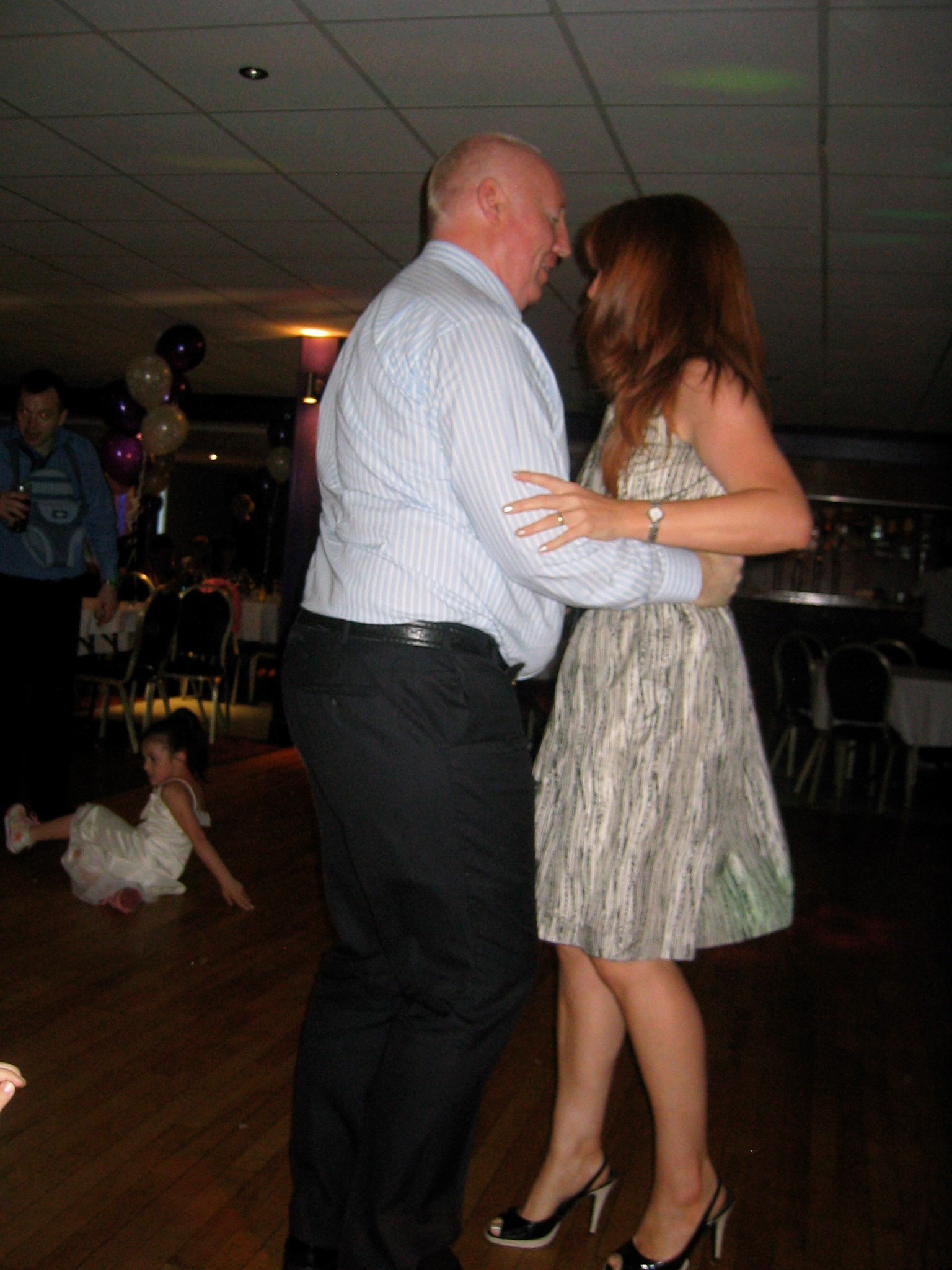 Dancing with his favourite niece Una
