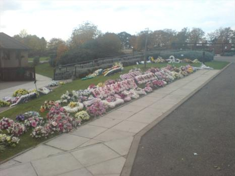 The flowers at Sams funeral