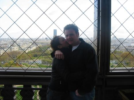 Halfway up the Eiffel Tower