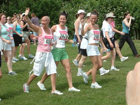 Sam Carly and Jodie race for life 2006