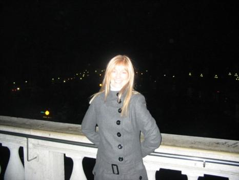 Sam on a night out in Venice