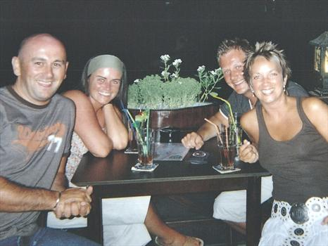 Us with Andy & Claire in Turkey